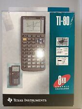 TI- 80 Texas Instruments Graphic Calculator and User Manual 1995 Boxed