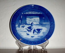 1969 Royal Copenhagen Collectors Plate - In The Old Farmyard - Featuring Geese
