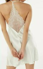 NEW-Intimissimi White Sheer Silk & Lace Slip Nightwear Dress Size S(with Giftbox