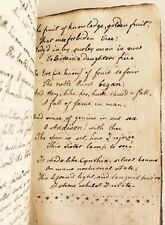 Handwritten Book Manuscript Copy Edward Young's Resignation Circa 1790