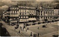 CPA  Angers - Place du Railiement - Coté de l'Hotel des Postes et rue ..(296537)