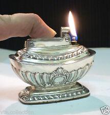 Briquet ancien * RONSON Georgian * Vintage Desk Fuel Lighter Feuerzeug Accendino