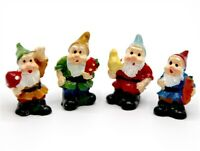 Dolls House Miniature 1/12th Scale Set of 4 Colourful Garden Gnome TA189