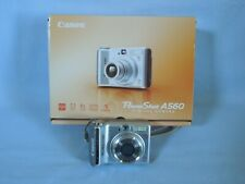 Canon PowerShot A560 7.1MP Digital Camera - Silver TESTED, WORKS!!