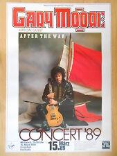 Gary Moore 1989 Frankfurt orig. concert poster -- concert affiche a1