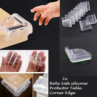 2x Child Baby Kids Corner Edge Furniture Protectors Soft Guard Safety Cushion UK