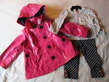 NWT Girl's 12m Pink/Navy 3-Piece Jacket Set Dots Buttons Snaps Pull-on Pant L/S