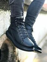 STM Design By Knack -  High Sole Mens Sneaker Boots -
