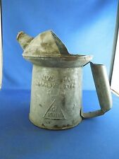 Vintage 1 Quart Liquid Pouring Can Tin Gas Station Oil Can