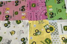 Baby John Deere Licensed Fat Quarter Assortment #2 Six Cotton Fabric Cuts