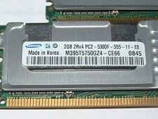 8GB 4x 2GB ECC RAM PC2-5300F HP DL380 G5 ML370 DELL 1950 2950 SERVER MEMORY