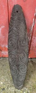 Antique C19th Carved Bullroarer- Tribal Polynesian - Australasian - Oceanian ?