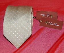 NWT LORO PIANA champagne shin dots cashmere silk tie $215 ITALY