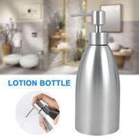 500ml Stainless Steel Liquid Pump Soap Dispenser Bathroom Hand Sanitizer Bottle
