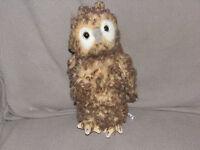 "2004 Hansa Plush Youth Woodland Owl Stuffed Animal Rotating Head 9"" EUC Toy"
