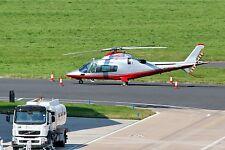 Beckdrive Ltd Agusta A-109E Power EI-MSG Parked at Birmingham 03-9-2012 Postcard