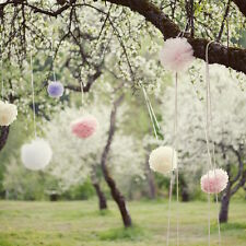 Pastel pom poms set /45 tissue paper pompoms in light pink, ivory, white, mist