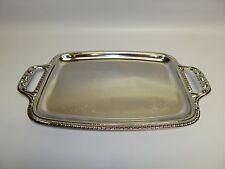 """New Sterlingcraft Silver Co. 17 3/4"""" Serving Platter KTT8 Turkey Ham Food Snack"""