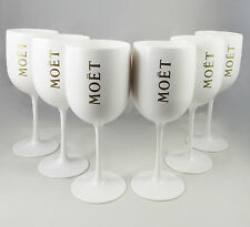 Moet Chandon Ice Imperial Glasses White Acrylic Champagne Glasses NEW Set of 5 !