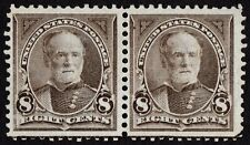 "US # 272 *MINT NO GUM { -VF- ""GUIDE LINE SHOWN } 8c SHERMAN PAIR DL-WMRK OF 1895"