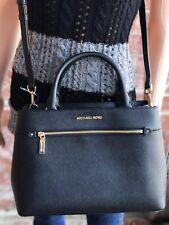 Michael Kors Hailee 35s8gx2s2l MD Leather Satchel Handbag Black