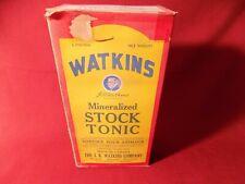 ANTIQUE VTG J.R.WATKINS STOCK TONIC VETERINARY MEDICINE VET BOX OLD farm ag.