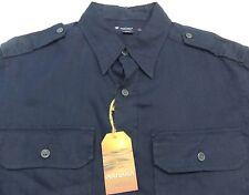 New Cremieux Linen Sahara Safari Shirt Mens Size Medium M