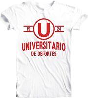 Club Universitario de Deportes Peru Football Soccer T Tee Shirt Camiseta White