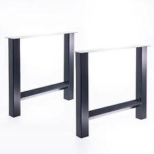 Tischgestell Set H-Gestell Tisch Esstisch Büro Schreibtisch Möbel Stahl Holz