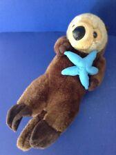 K&M International Sea OTTER Swims on Back w/ Starfish Plush Stuffed Animal Toy