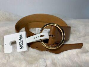 Michael Kors Belt Large  Brown Gold (Genuine Leather)