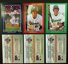 (3) CARD-2010 CEDAR RAPID KERNELS MINOR LEAGUE ROOKIE CARD SET MIKE TROUT ANGELS
