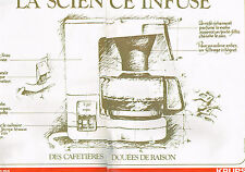 PUBLICITE ADVERTISING 094  1979  KRUPS   cafetière éléctrique ( 2 pages)