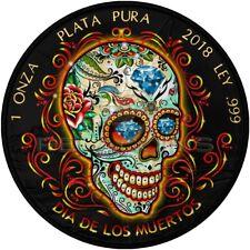 Mexico 2018 1 onza Libertad - Día de los Muertos 1oz Ruthenium Goldplated 1oz