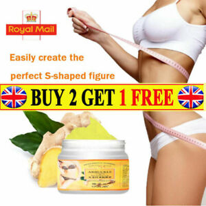 Ginger Fat Burning Cream Anti-cellulite Body Slimming Weight Loss Massaging UK