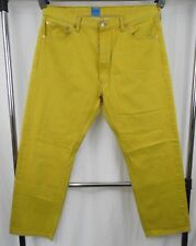 Levi's 501 Mustard Yellow Dyed Custom Tapered Fit Jeans 40 x 32