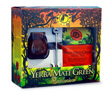 Yerba mate set in a gift box with Mate Green Mas Energia Guarana400g+accessories