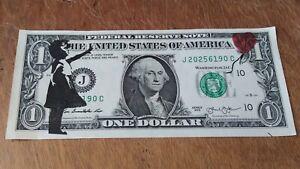 "Banksy Original ""HOPE"" $1 Dollar Real Banknote Dismaland"