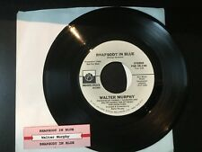 Promo 45 WALTER MURPHY Rhapsody In Blue  Private Stock w/ TITLE STRIP VG