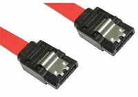 LONG SATA Data Cable Serial ATA 3GB Lead Locking Clips 90cm/1m S-S