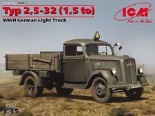 OPEL BLITZ Type 2,5-32 (1,5 ton) WWII German Army Light Truck 1/35 ICM #35401