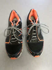 "Reebok ""Ziglite"" Black and Dayglow Orange Running Shoes Men's 11"