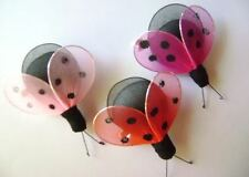 buy 1 get 1 free Toddler Girls Boutique LADY BUG pink lilac hotpink clip