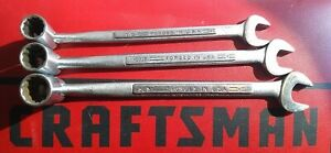 "CRAFTSMAN USA =V= FLEX HEAD SOCKET/OPEN END Saltus Combo WRENCHES 1/2 9/16 5/8"""