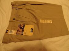 DOCKERS WASHED CHINO PLEATED RELAX FIT MENS COTTON PANTS- KHAKI (38-40 x 31) NWT