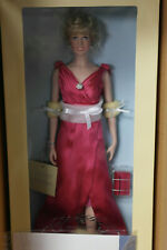 Franklin Mint Princess Diana Vinyl Doll Fuschia Pink Gown COA LE 0357/1000
