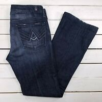 7 For All Mankind A Pocket Jeans Womens 29x31 Dark Wash Low Rise Bootcut J217