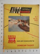 ORIGINAL AUTOCOURSE MAGAZINE VOLUME 3 NO 1 1953 FORMULA 1 GP MONTE CARLO RALLY