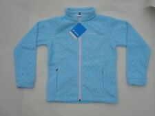 NWT COLUMBIA BENTON SPRINGS XL 18/20 JACKET FLEECE BLUE WHITE POLKA DOT MSRP $45