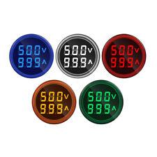 22mm Voltmeter Ammeter Ac 50 500v 0 100a Amp Volt Voltage Tester Led Indicator